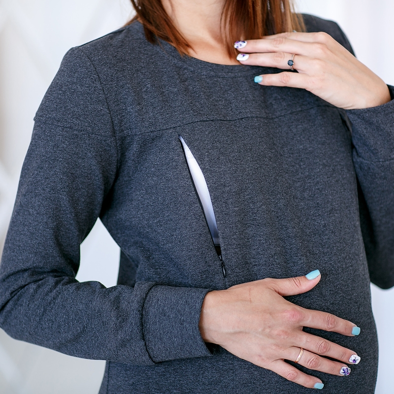 49b549675b1f Стильное платье для беременных и кормящих мамочек из трикотажной ткани. С ассиметричным  низом, делает её современной и интересной.