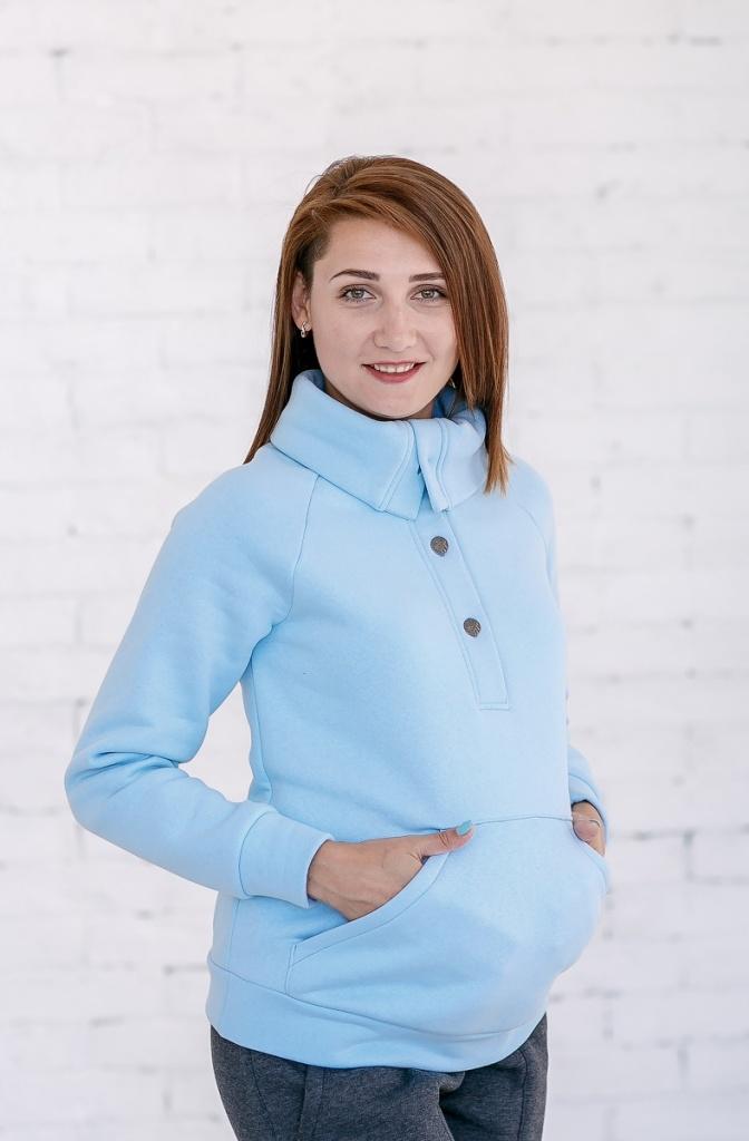 acf97d6f89a6 Спортивная туника (толстовка) из трикотажной ткани на флисе для беременных.  Очень уютная, мягкая и теплая. На полочке планка с пуговицами и большой ...
